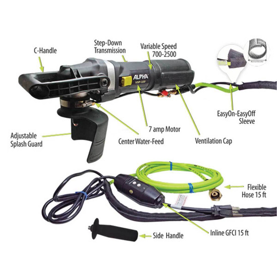 Alpha VSP-320 Variable Speed Polisher Components
