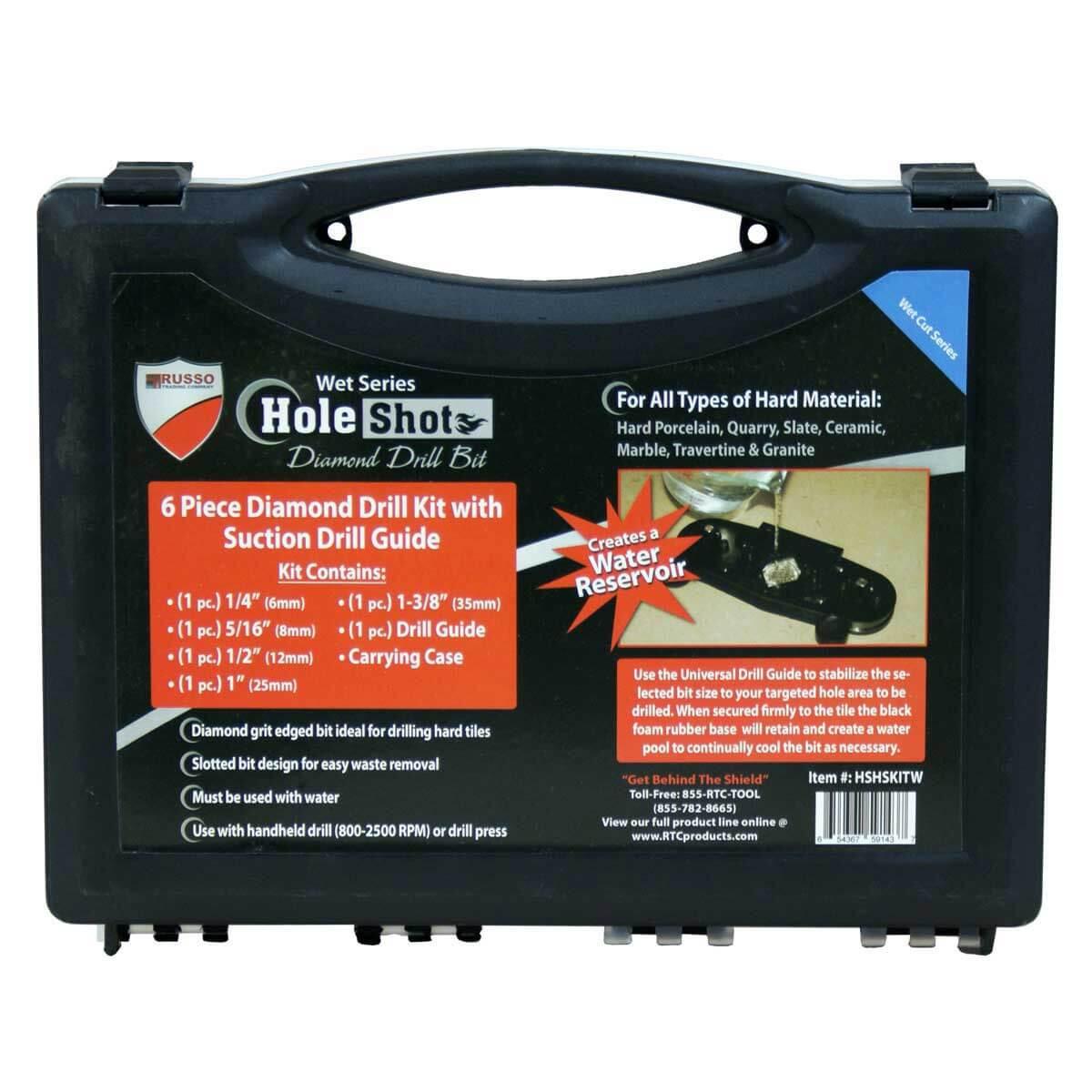 hole shot drill bit kit in case