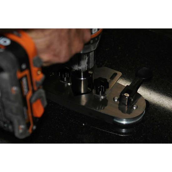 Diamond Tile Wet Drill Bit In Use