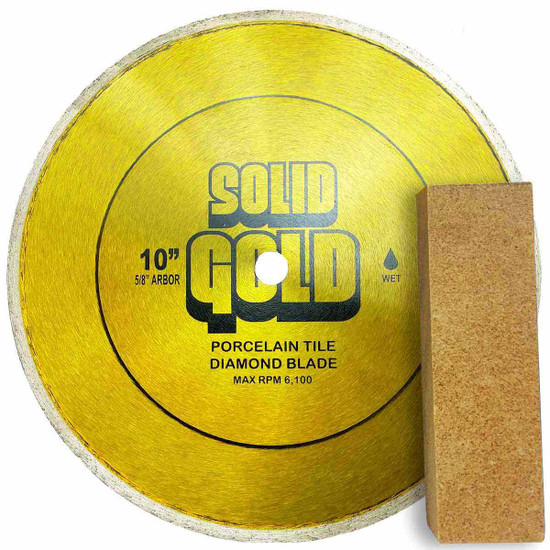 Solid Gold SG-10 Diamond Blade with Solid Gold Dressing Stone
