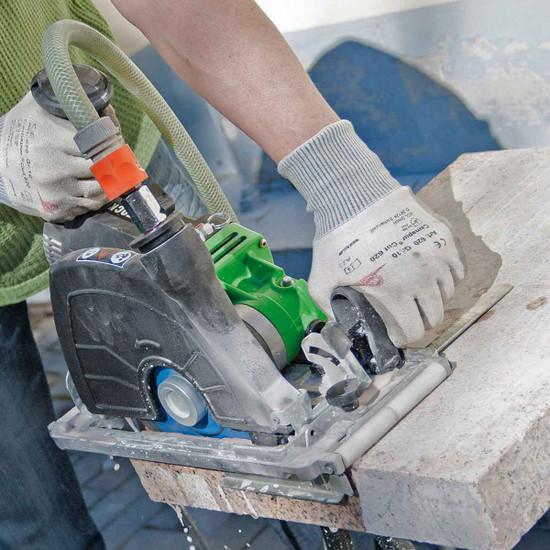 Eibenstock Circular Tile Saw Cuts Concrete