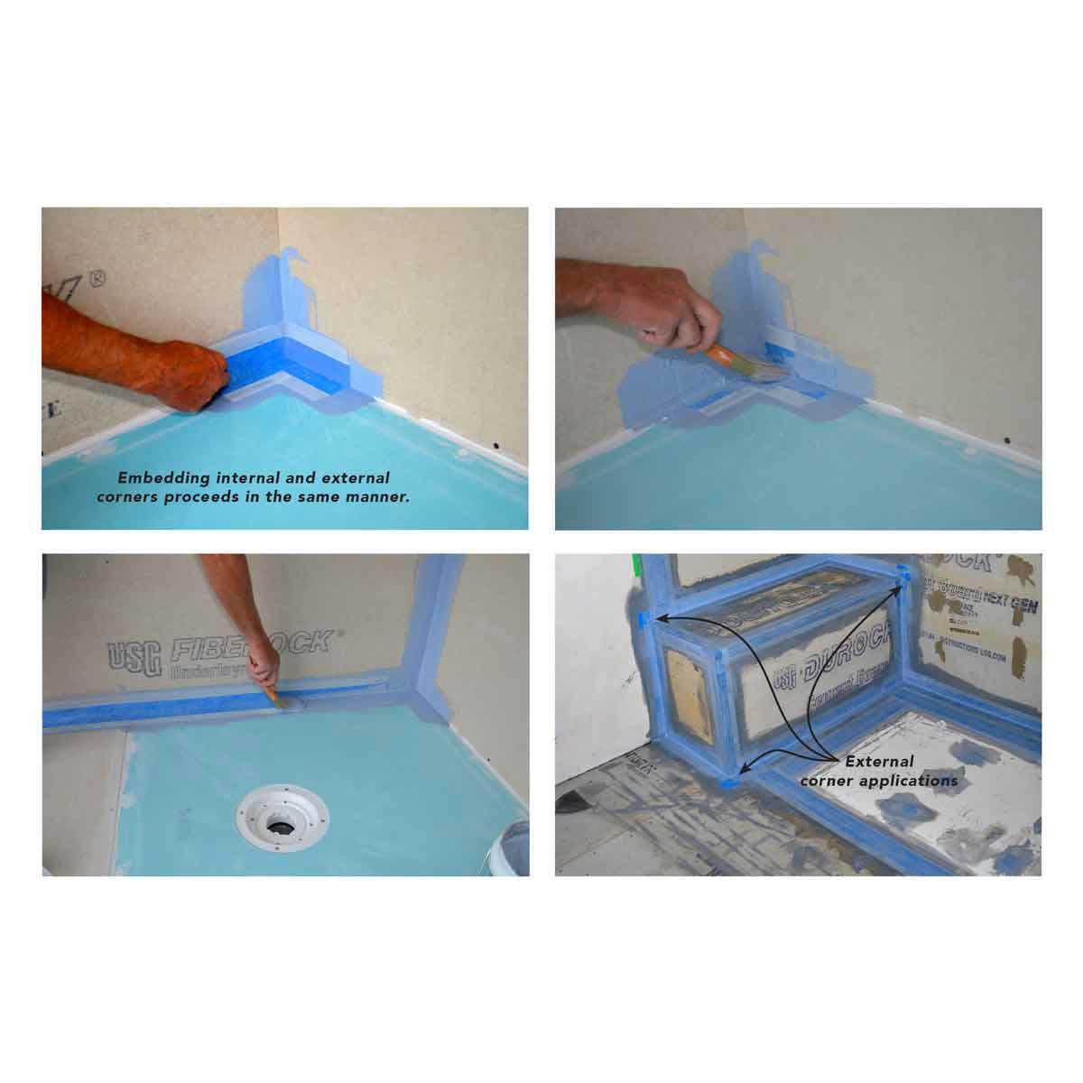 External Waterproofing Corner Arc WP3201-EXT