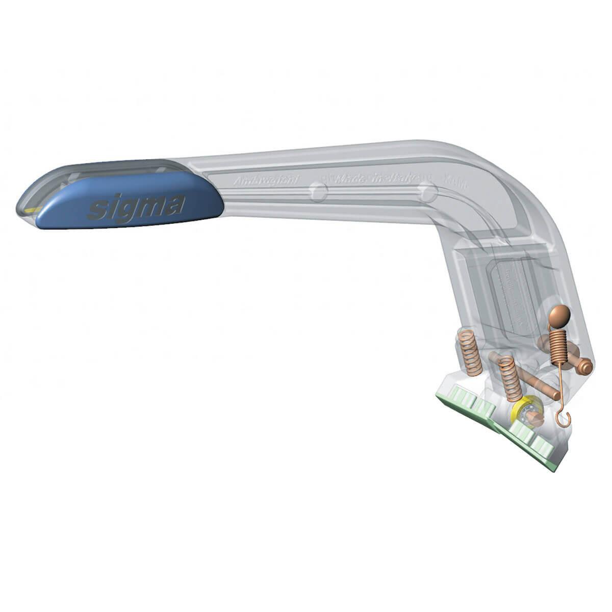 Sigma Max cutter handle cut away