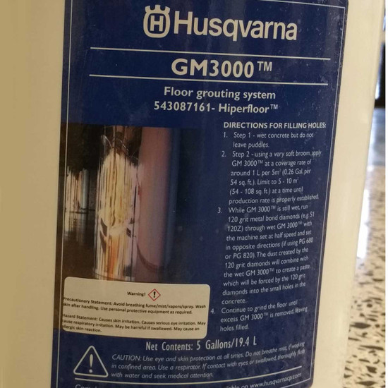Husqvarna GM3000 Concrete Floor Finisher