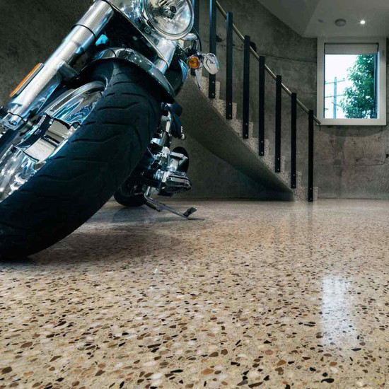 Finished Concrete Floor with Husqvarna Hiperhard