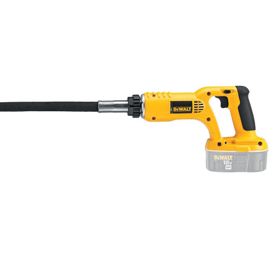 DeWalt DC530B 18V Cordless Concrete Vibrator close up