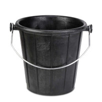 Rubi RubberMAX 7.9 Gal Bucket with Handle Clear wire handle with protected ends. Prevents the risk of snagging