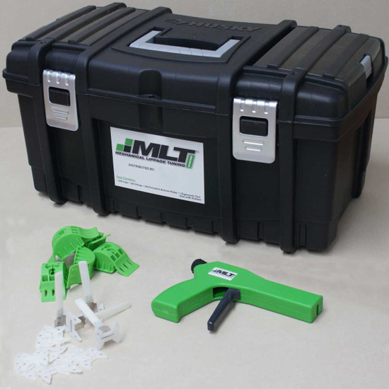 mlt leveling system kit with gun strap and cap layout