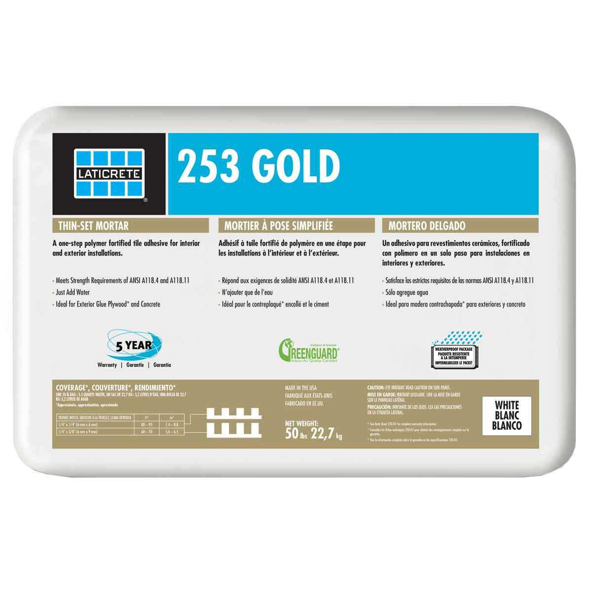 Laticrete 253 Gold White Thin-set 0253-0050-22P