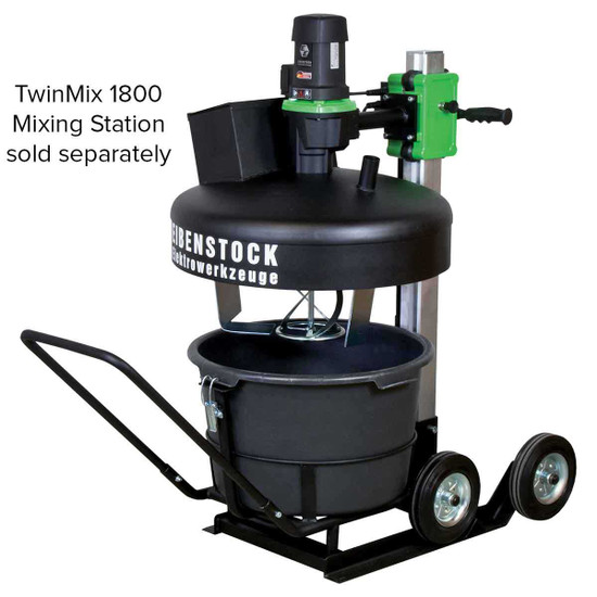 CS Unitec Eibenstock Big Wheel Cart with 2 Wheels for TwinMix 1800 Mixing Station features 2 large wheels for improved mobility on tough terrain