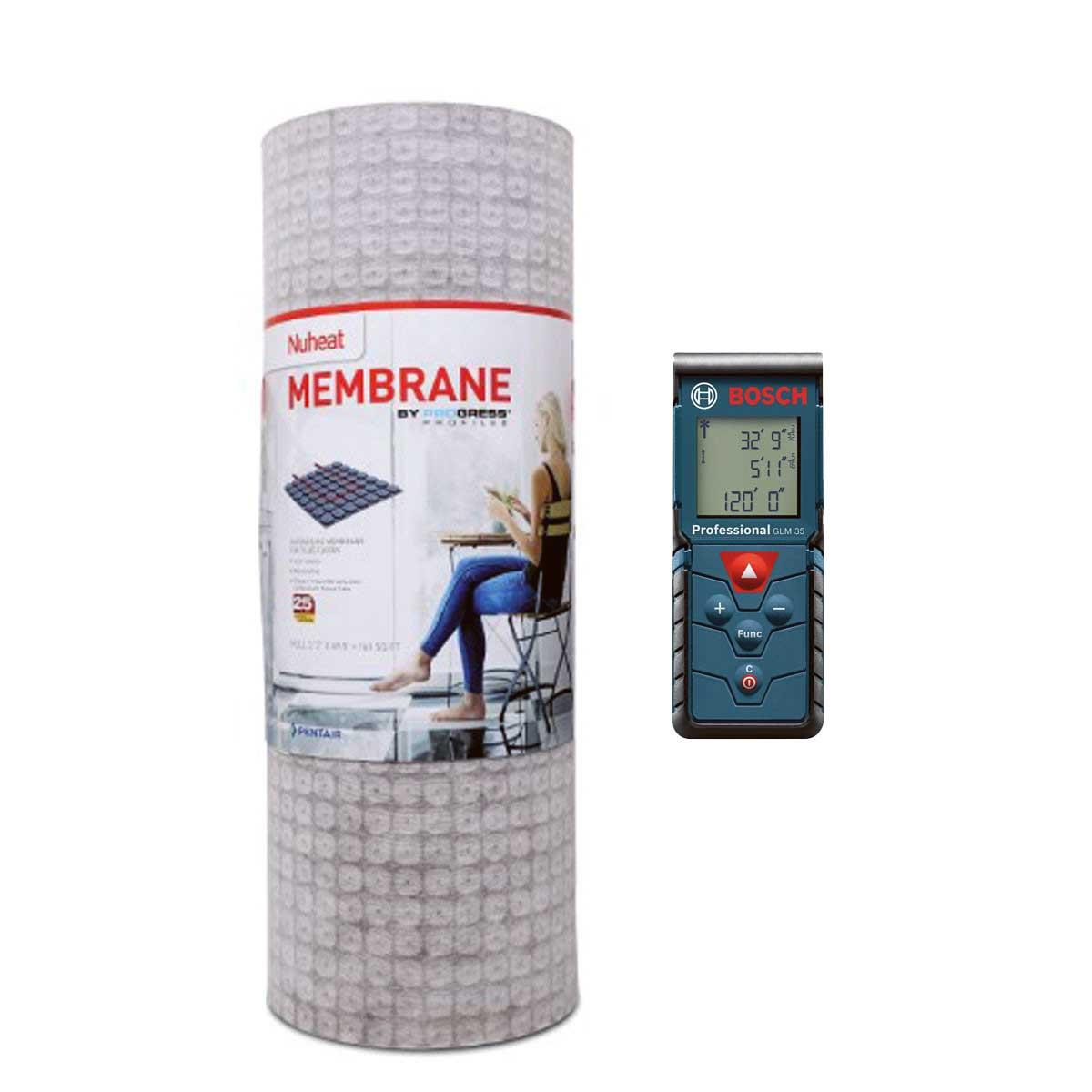 nuheat membrane, bosch glm35