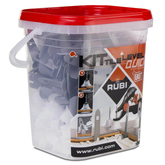 Rubi tile leveling system prevents tile lippage in any type of installation surface