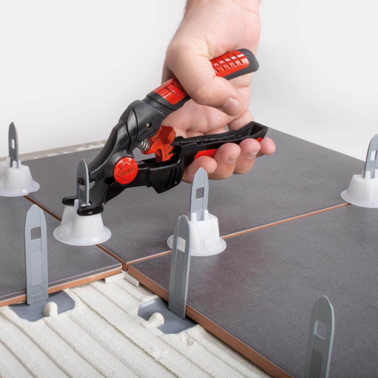 Pressure can be easily adjusted for the different thicknesses of ceramic tile allowing the perfect pressure to be applied