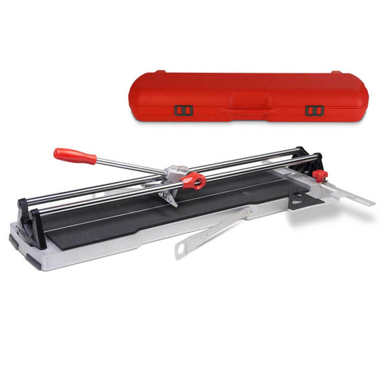 rubi speed tile cutter is Ideal for ceramic and porcelain tile, Extension arms for large format tile, Direct vision of the scoring line, 8mm scoring wheel
