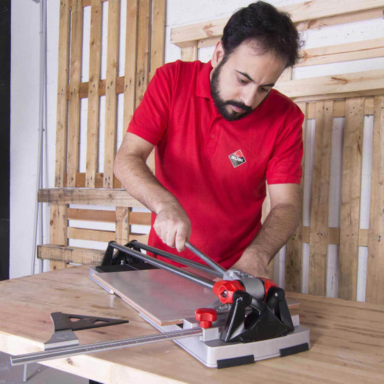 rubi speed heavy-duty tile cutter designed for maximum scoring smoothness tile after tile for cutting bigger, tougher ceramic and porcelain tiles