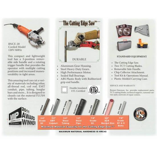 BNCE-20 Rebar Cutting Edge Saw Manual