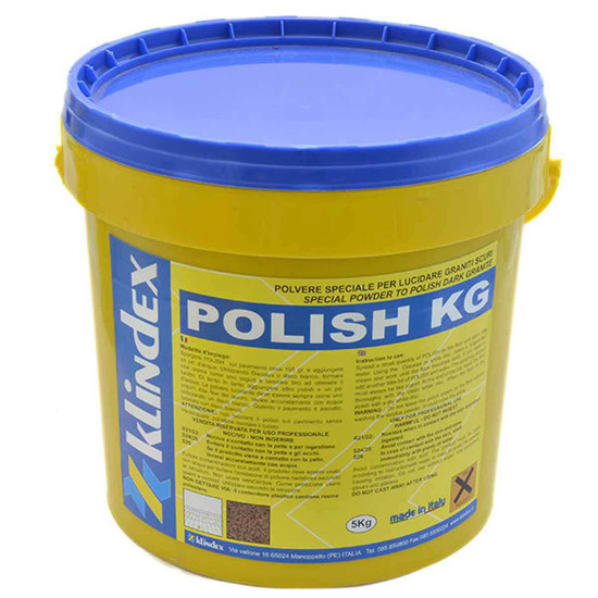 POLISHKG Klindex Polishing Powder for Dark Granite pail