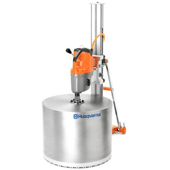 Husqvarna DS 900 Stand with Mounted DM650 Core Drill and Bit