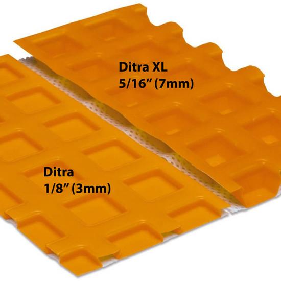 Schluter Ditra vs Ditra XL