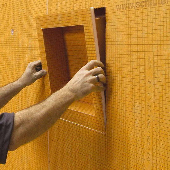 Kerdi Shower Niche Installation