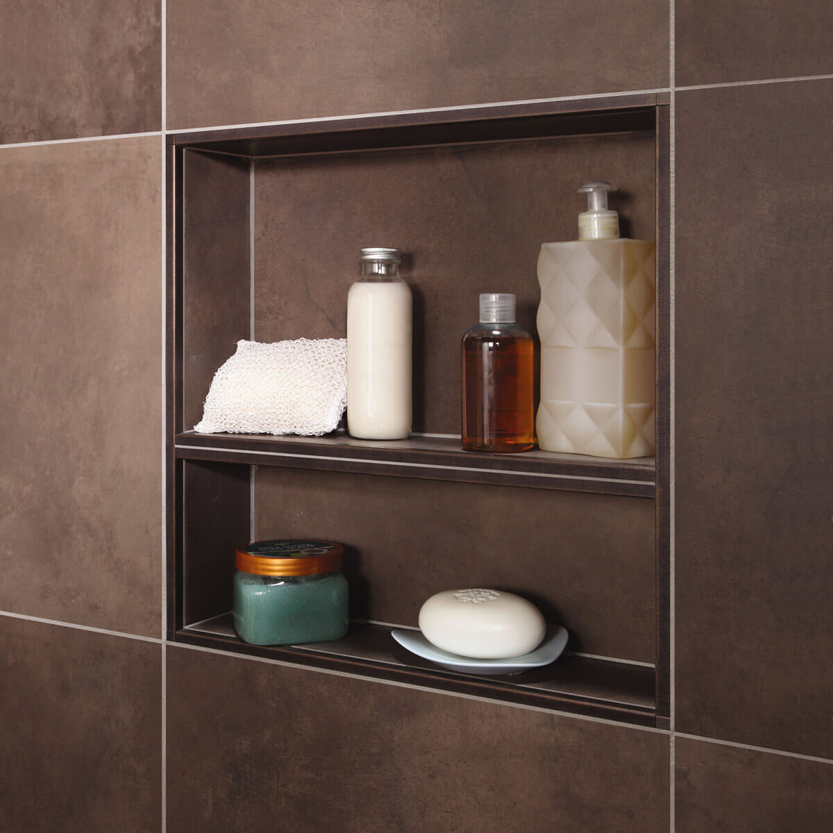 Schluter niche shower bathroom