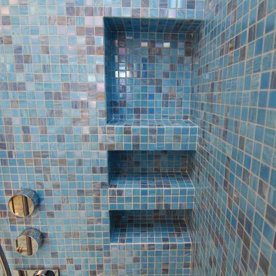 Schluter soap niche bathroom