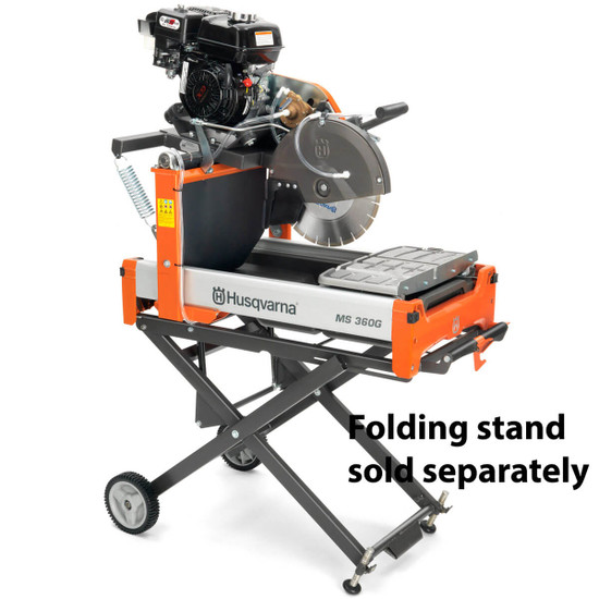 Husqvarna MS 360 G Saw with Optional Folding Stand