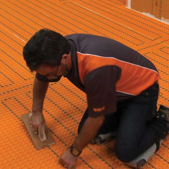 Schluter Floor Heating Cable in DITRA-HEAT Membrane