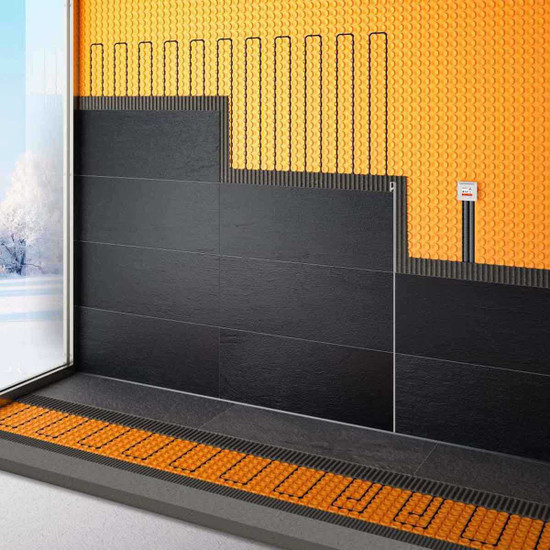 Schluter DITRA-HEAT Membrane Works for Walls and Floors