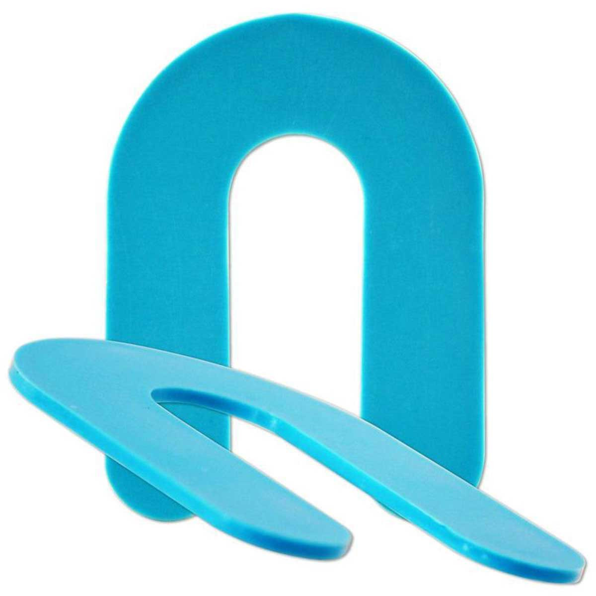 CDSHIM116 1/16th Blue Plastic Horseshoe Shims