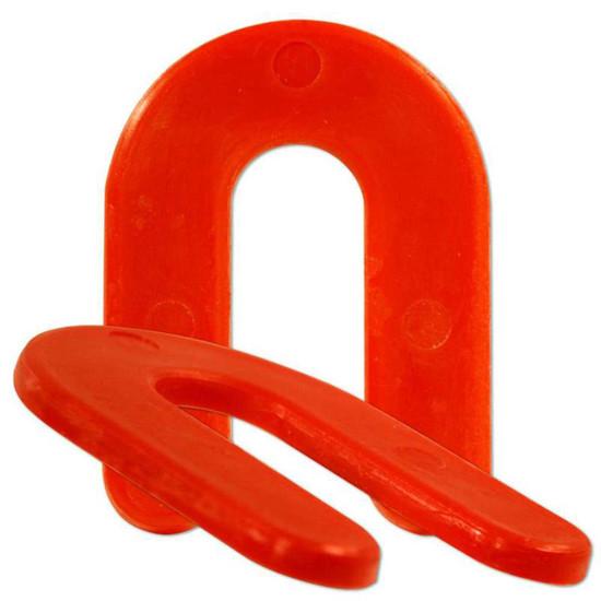 CDSHIM18 Red 1/8th Plastic Horseshoe Shims