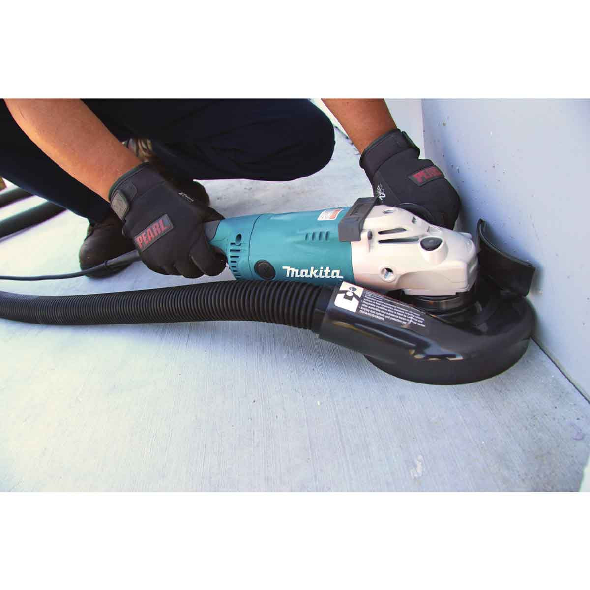 Pearl Abrasive dust shroud with makita grinder