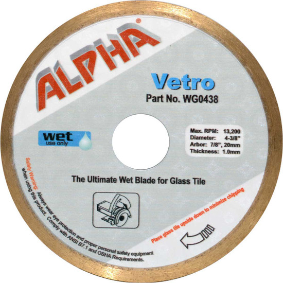 Alpha Vetro Diamond ceramic tile glass Blade