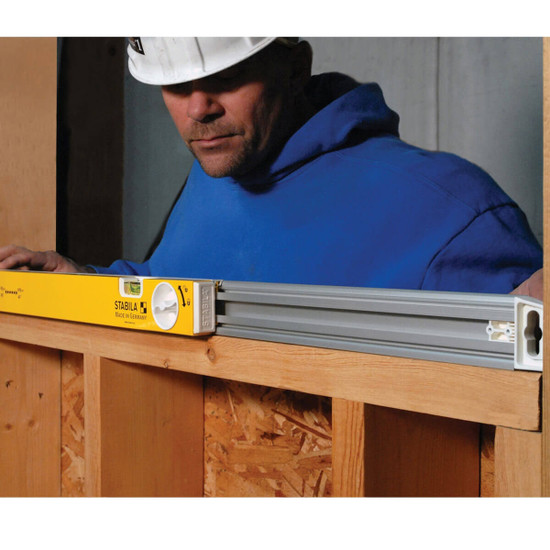 Wood Framing with Adjustable Length Level