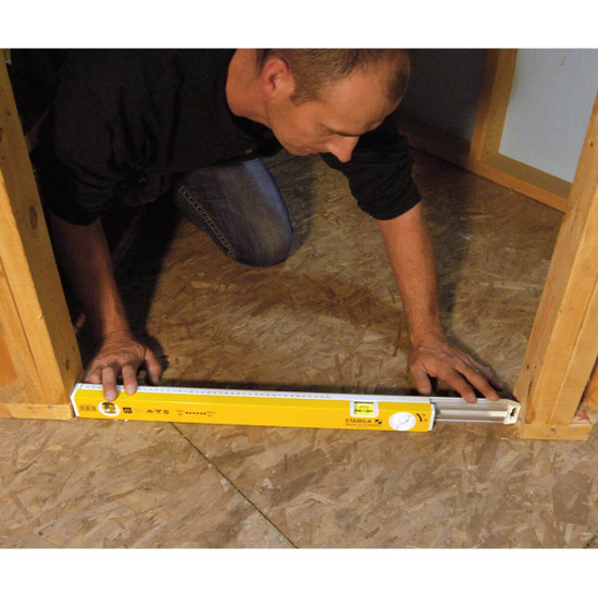Door Framing with Adjustable Length Level