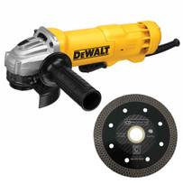 """Dewalt 4-1/2"""" Angle Grinder with 4-1/2"""" Carbon Fiber Mesh Blade"""