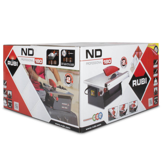 Rubi 7 inch wet tile saw ND180 box