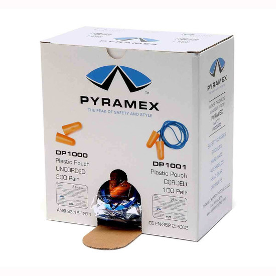 Pyramex DP1000 Disposable Ear Plugs 200 Pair Box