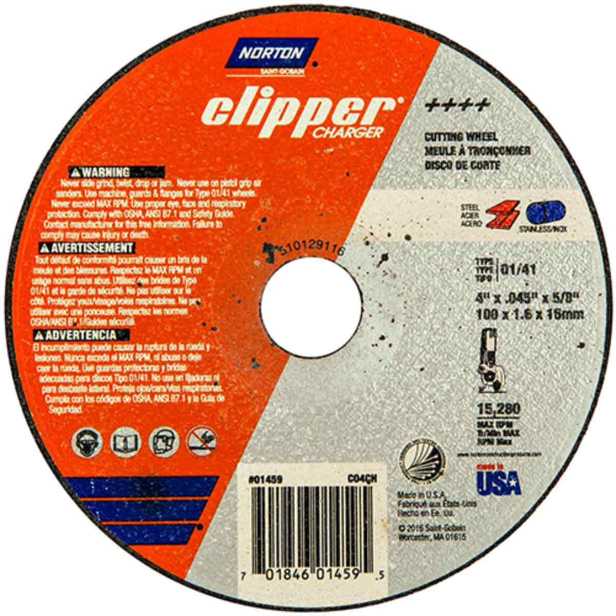 CO4CH Norton Abrasive Charger Cut-Off Wheels
