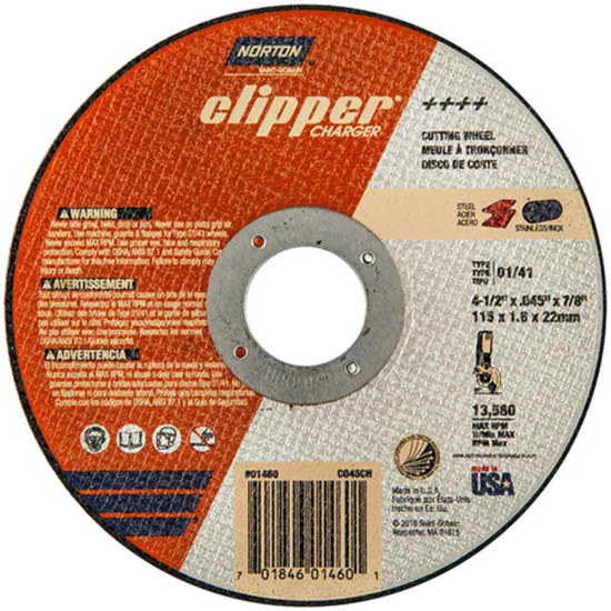 Norton Charger 4-1/2 inch abrasive cut-off wheels