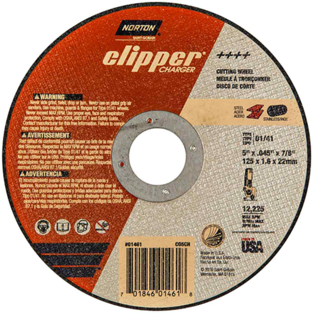CO5CH Norton Abrasive Charger Cut-Off Wheels