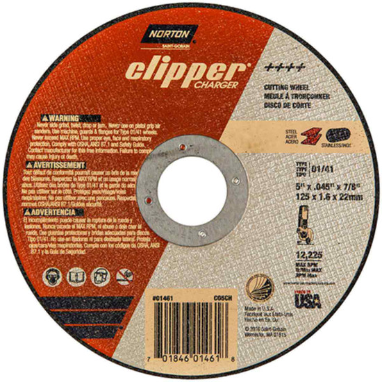 Norton Charger 5 inch abrasive cut-off wheels