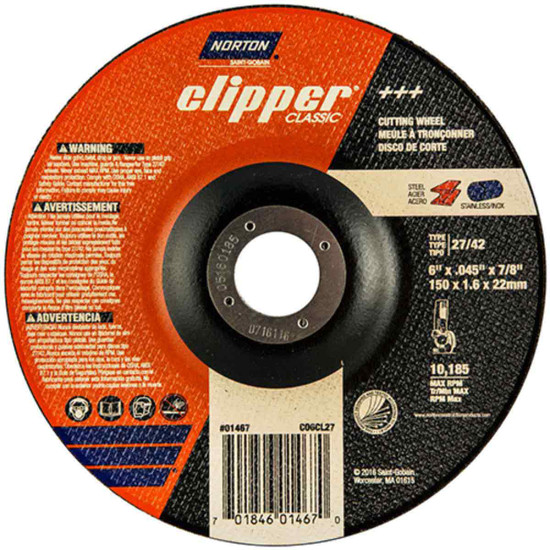 CO6CH27 Norton Classic Abrasive Type 27 Cut-off Wheels