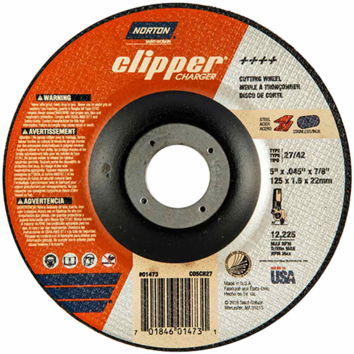 CO5CH27 Norton Charger Abrasive Type 27 Cut-Off Wheels
