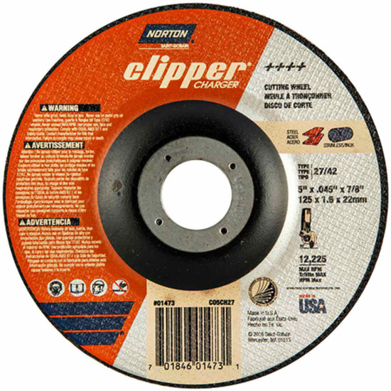 Norton Charger 5 inch type 27 abrasive cut-off wheels