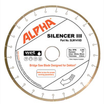 Alpha Silencer III Dekton bridge saw Blade