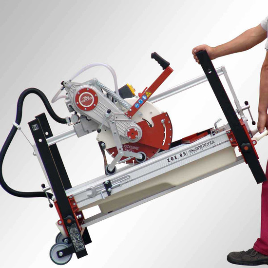 Raimondi Rail saw wheel kit and easy transport