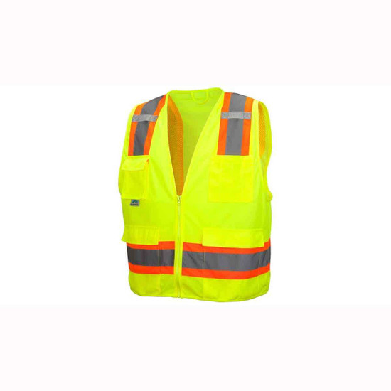 Neon Lime Construction Site Safety Vests