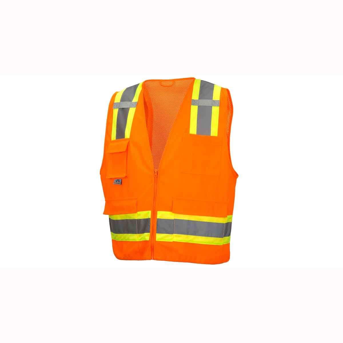 Neon Orange Construction Site Safety Vests