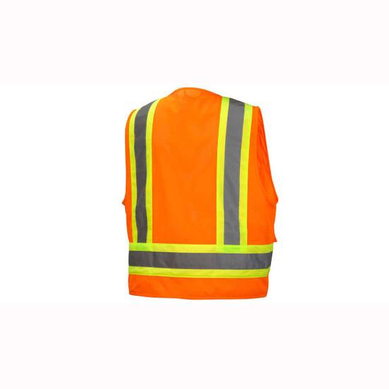 Pyramex Neon Orange Safety Vests Rear View